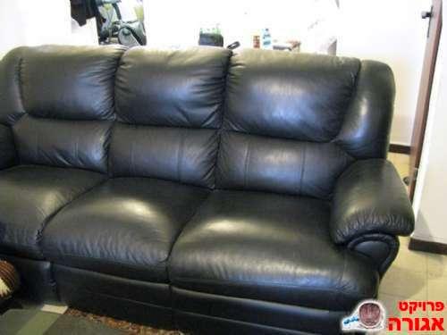 מודרניסטית תמונה של ספה תלת מושבית מעור אמיתי - מודעה 232567 SF-18