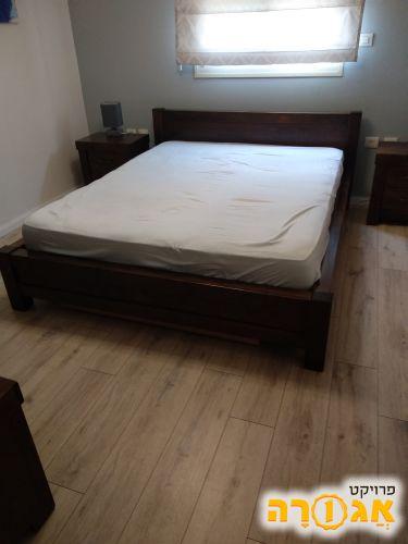 מדהים תמונה של מיטה זוגית מעץ מלא כולל ארגז מצעים - מודעה 1830526 NJ-95