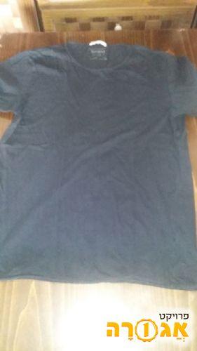 חולצה חצי שרוול שחורה מידה 38