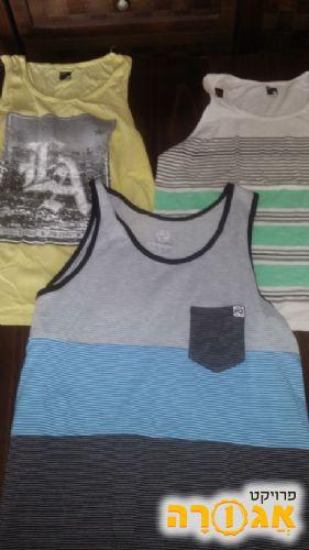 3 חולצות ללא שרוול(גופיות) לגבר