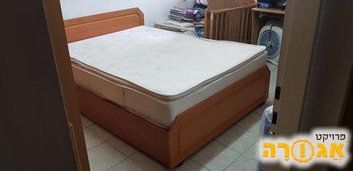 מיטה זוגית+ארגז מצעים+מזרון