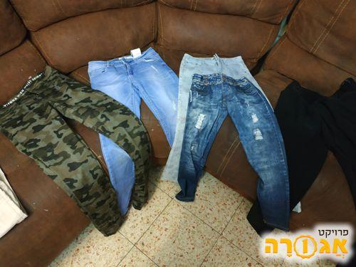 מכנסי נשים ונערות, מידה 14, ו 34