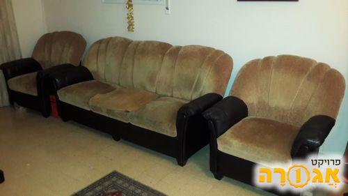 ספה ו2 כורסאות