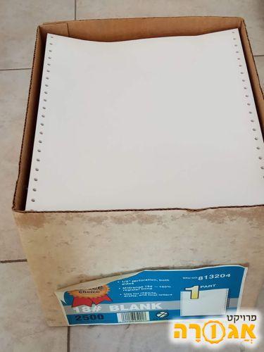 קופסה אחת של נייר רציף