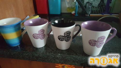 4 כוסות מאג לשתייה חמה