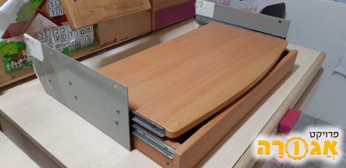 מדף נשלף + מגירה נשלפת למקלדת להוספה לשולחן