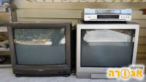 2 טלויזיות טושיבה גודל 21 אינץ'