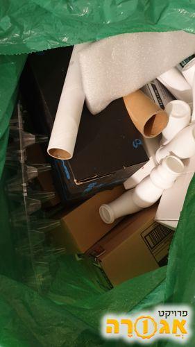 קופסאות וגלילי קרטון לגן ילדים