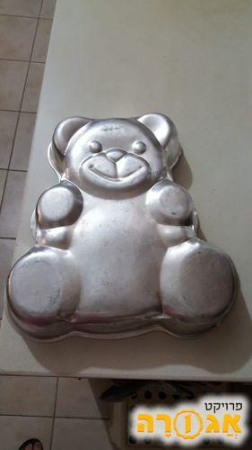 תבנית אפיה לעוגה בצורת דובי