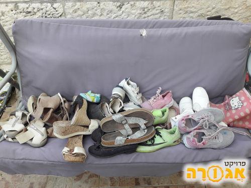 נעליים מידות שונות מבוגרים ילדים