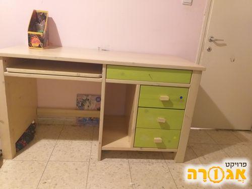 שולחן מחשב כתיבה מעץ מלא