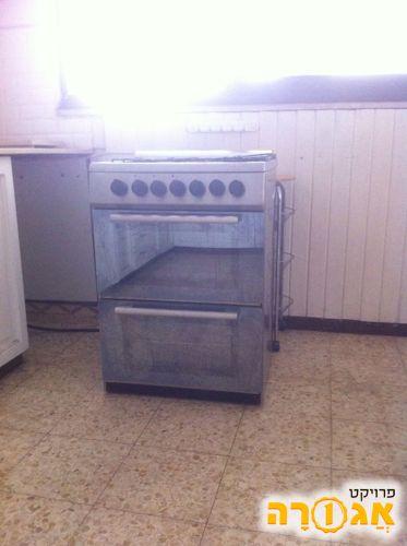 תנור אפייה דו תאי משולב כיריים