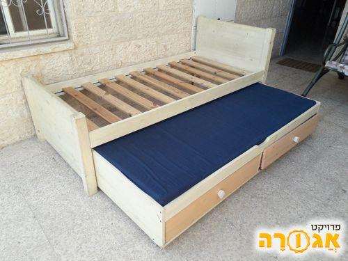 מיטה - בסיס ומיטה נוספת