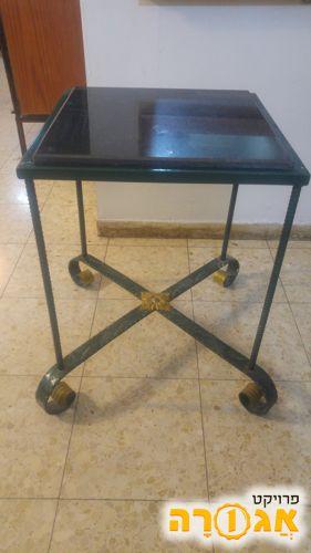 שולחן/ סטנד מתכתי עם פלטת שיש