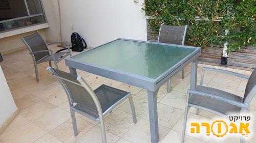שולחן גינה + כסאות